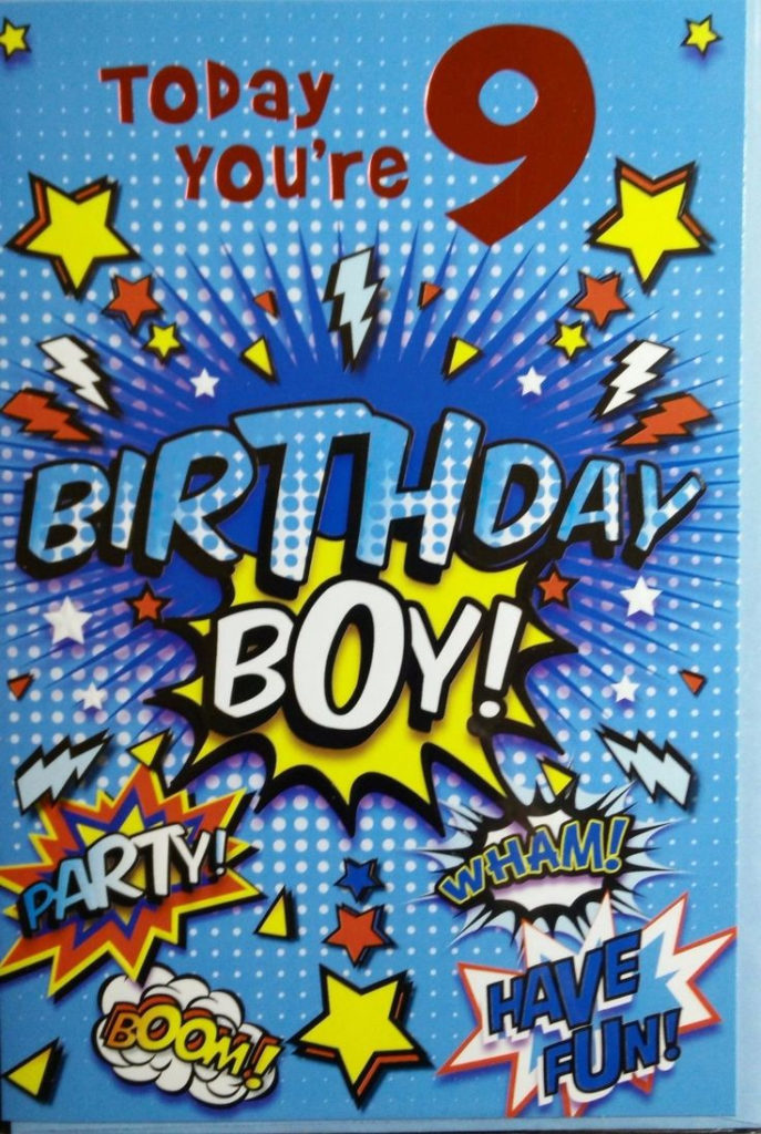 1 99 GBP Birthday Cards For 9 Years Old Boy Good