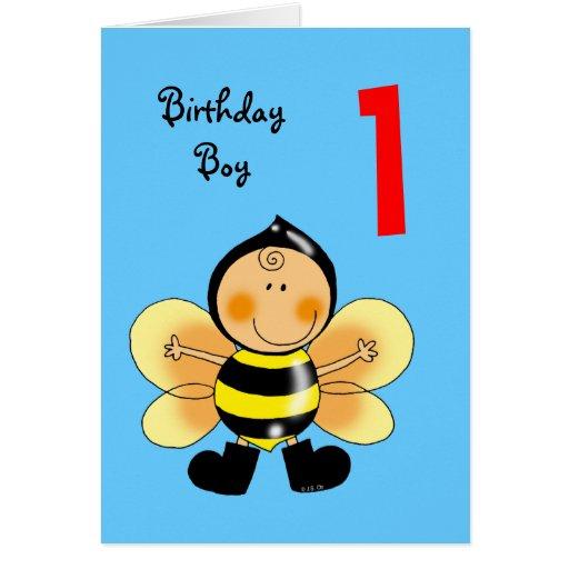 1 Year Old Birthday Boy Card Zazzle