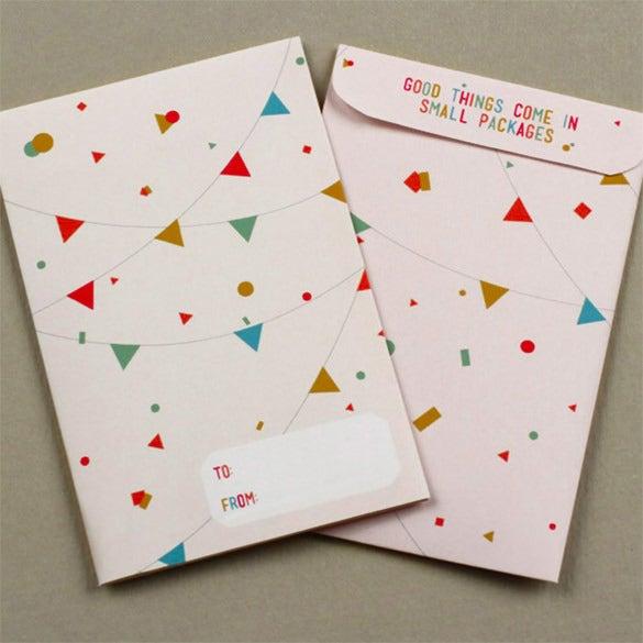 10 Gift Card Envelope Templates Free Printable Word