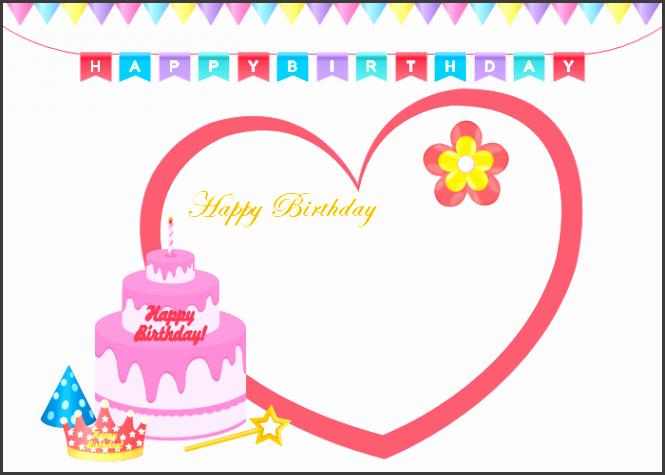 10 Printable Birthday Card Template SampleTemplatess