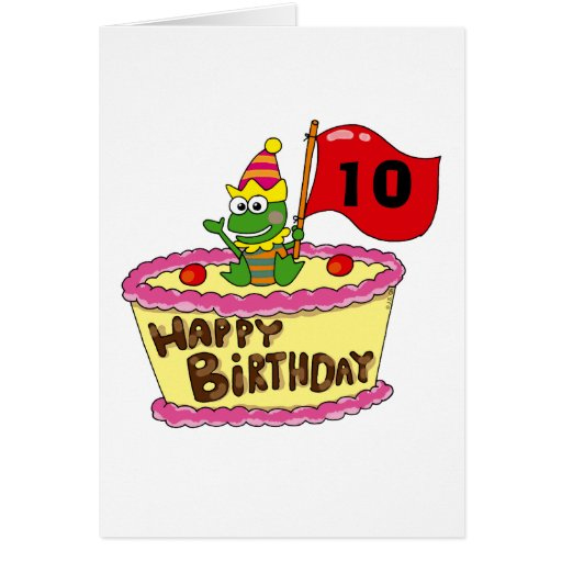 10th Happy Birthday Cards Zazzle