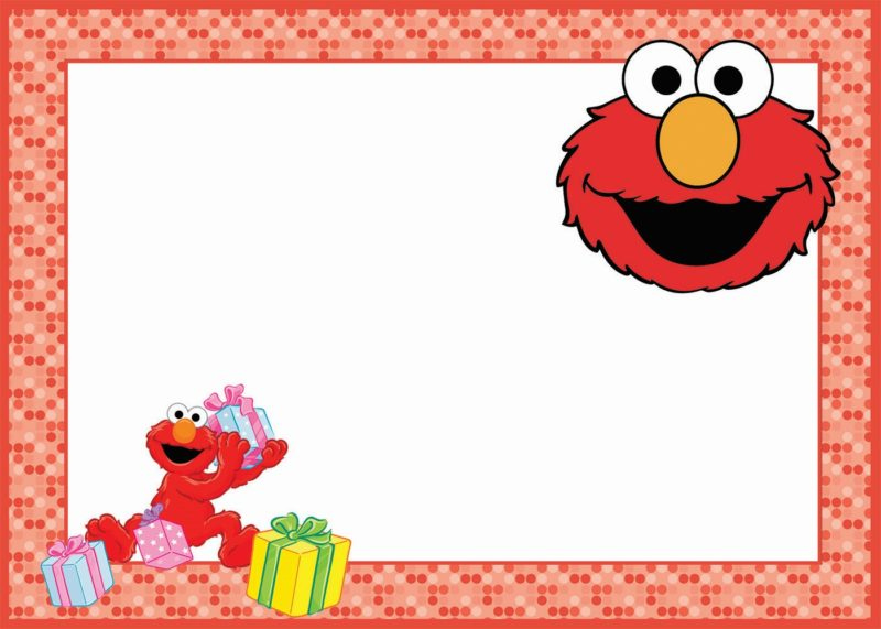 12 Printable Elmo Invitations Children s Favorite