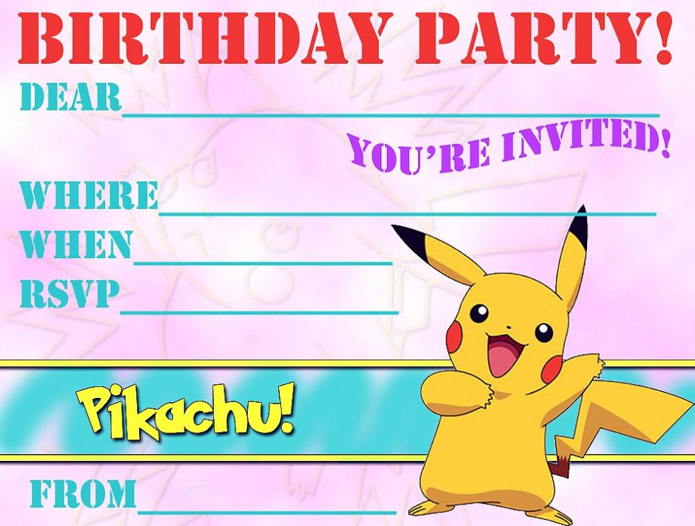 12 Superb Pokemon Birthday Invitations KittyBabyLove