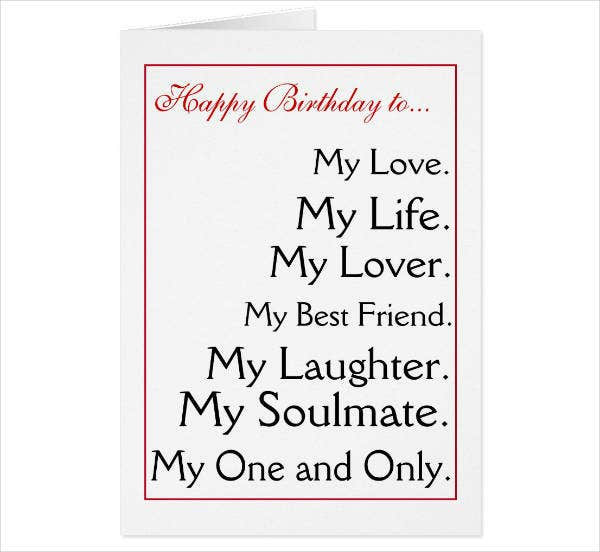 14 Birthday Card Designs Templates For Husband PSD