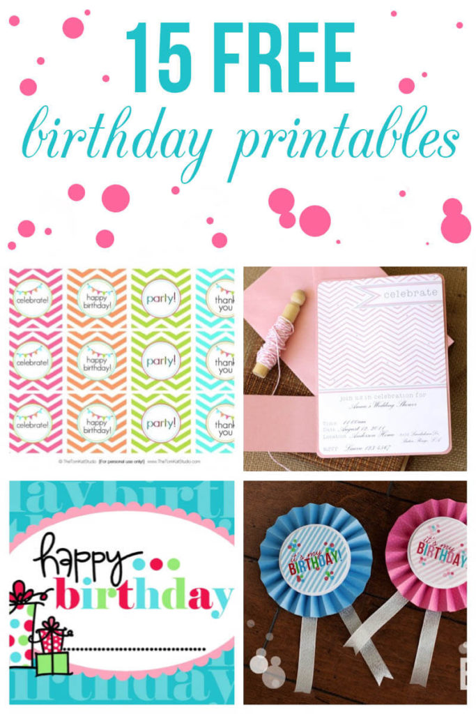 15 Free Birthday Printables I Heart Nap Time