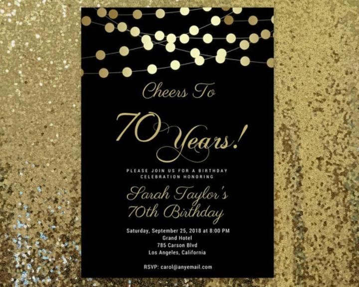 15 Golden Birthday Card Templates Free Premium Templates