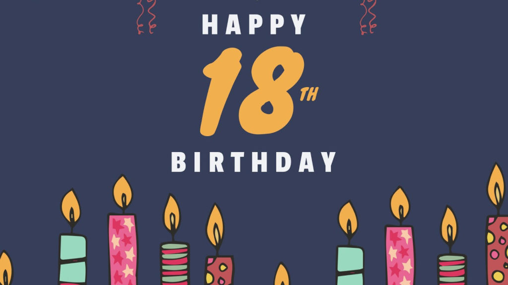 18th Birthday Cards Template Showcase YouTube