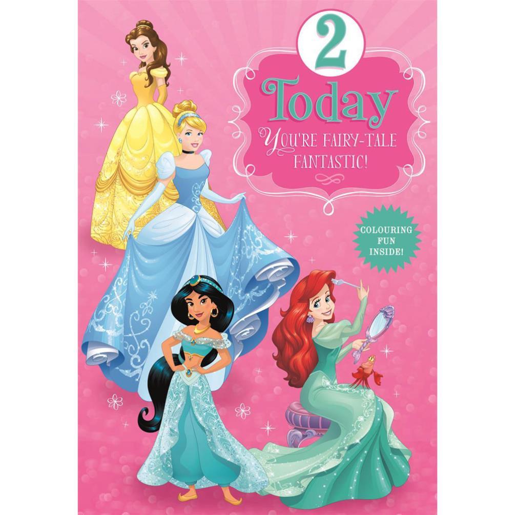 2 Today Disney Princess Birthday Card 25461532