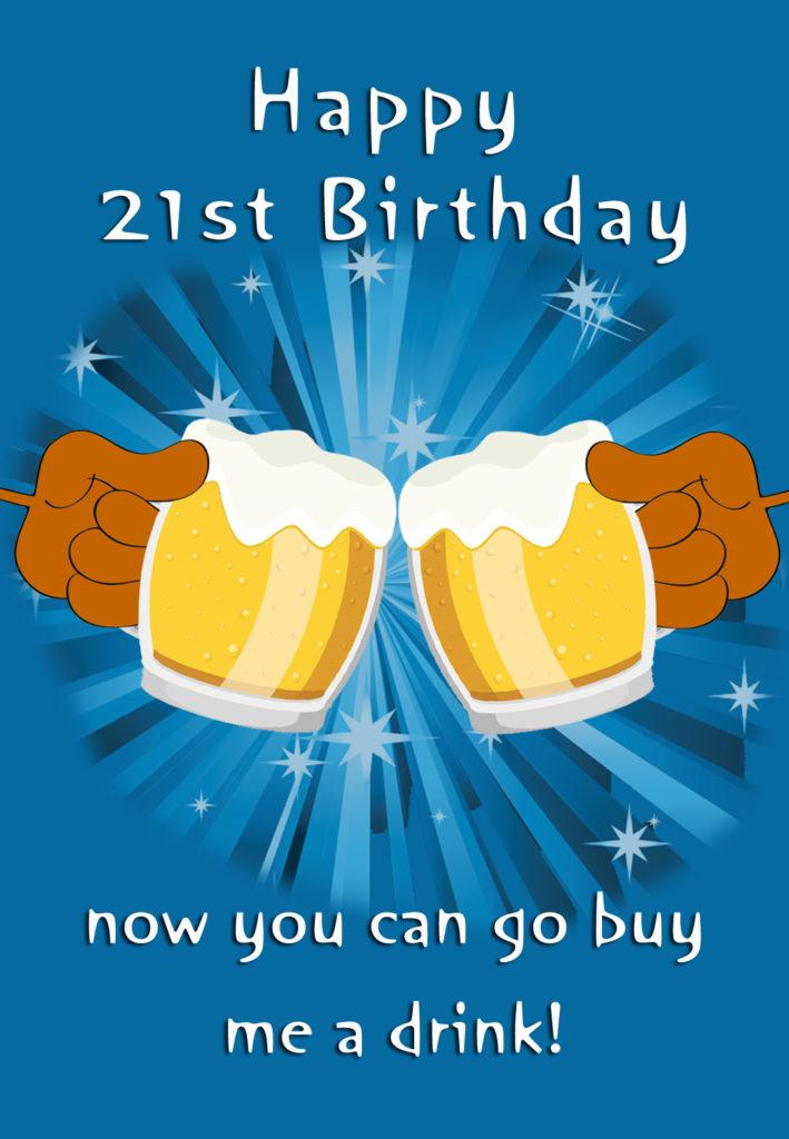 21st Birthday Birthday Card Free Greetings Island