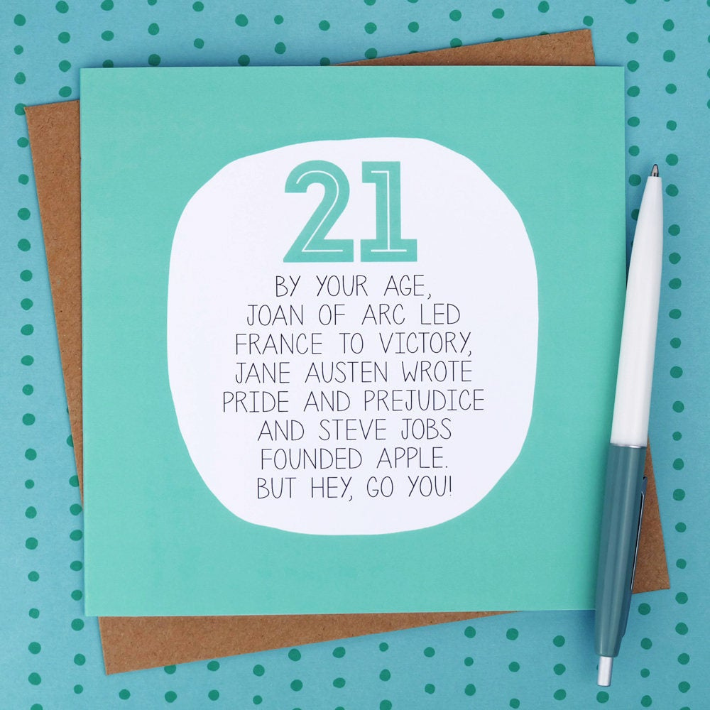 21st Birthday Card Funny Birthday Cards Funny 21st Card