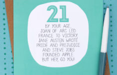 Printable Birthday Cards For 21 Year Olds