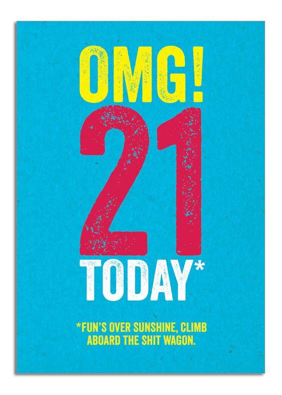 21st Birthday Card Funny Www brainboxcandy OMG