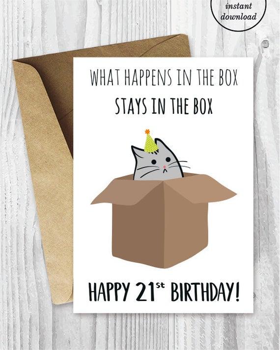 21st Birthday Printable Cards Funny 21st Birthday Cards