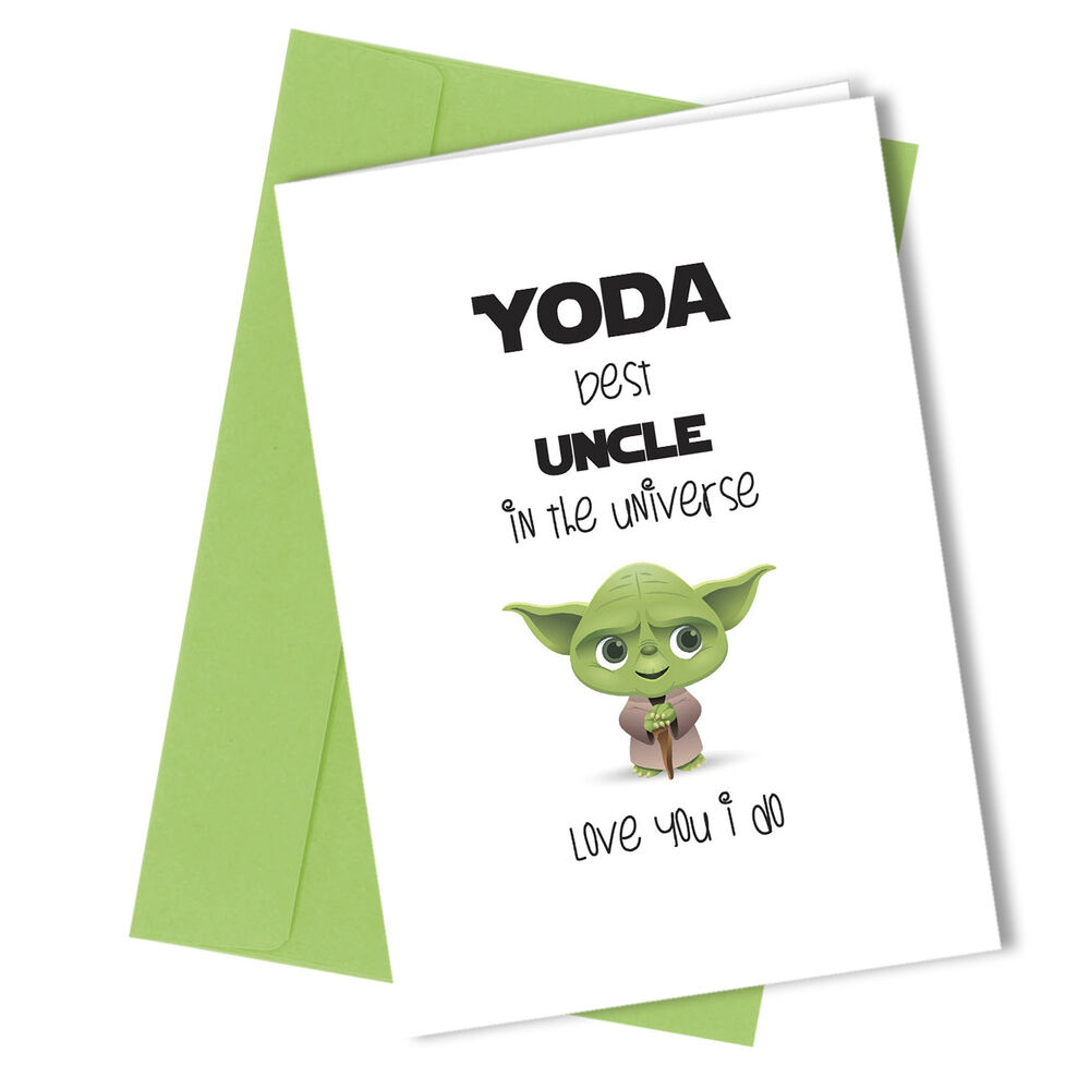 225 UNCLE Greetings Card Yoda Comedy Rude Funny Humour