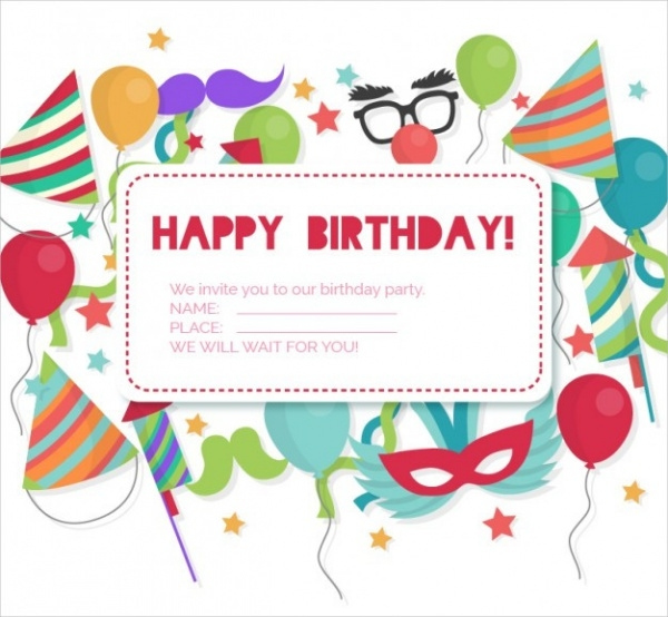 25 Free Printable Birthday Invitations PSD AI Illustrator