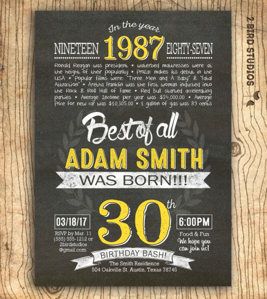 30th Birthday Invitation Surprise 30th Birthday Invite DIY