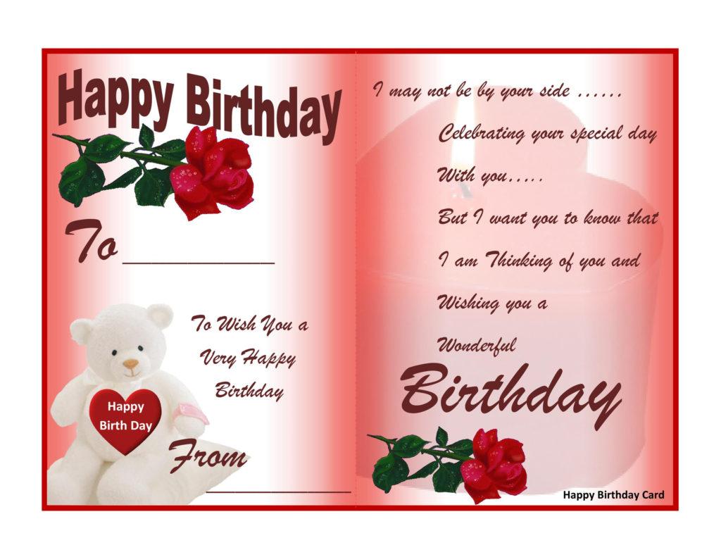 40 FREE Birthday Card Templates TemplateLab