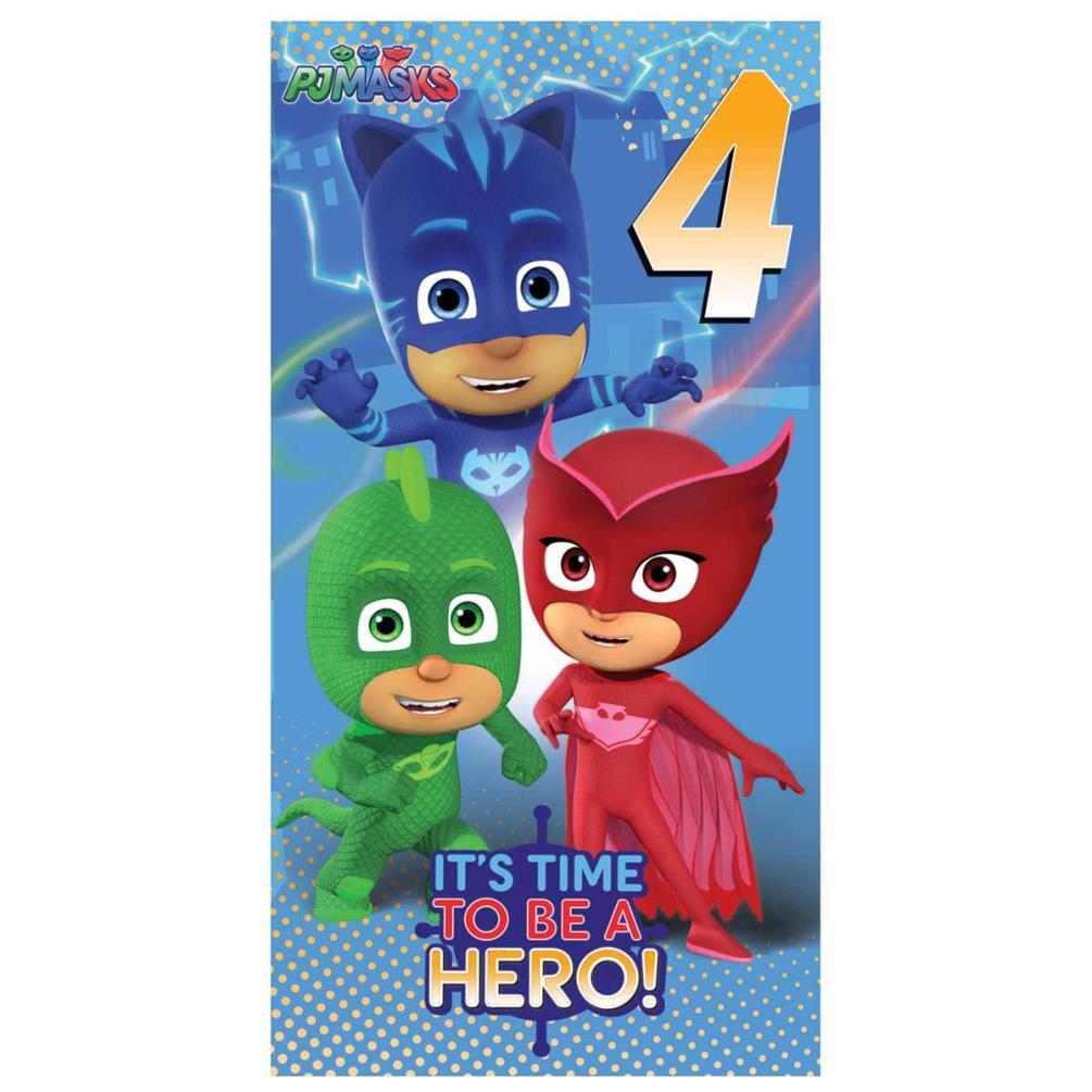 4th Birthday PJ Masks Birthday Card 255799 Character