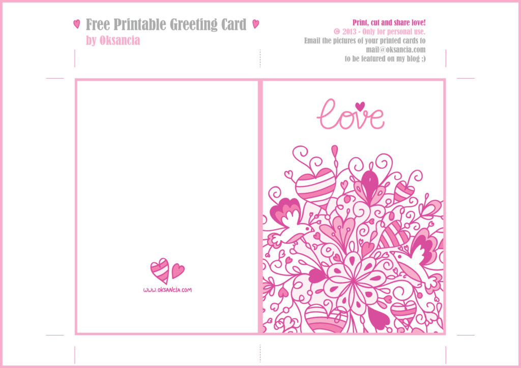 5 Best Images Of I Love You Birthday Card Printable I
