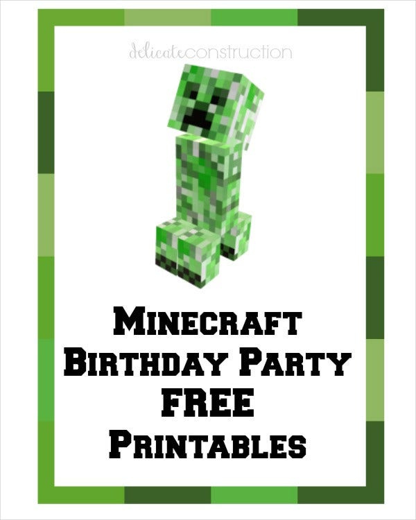 5 Free Minecraft Printables PSD PNG Vector EPS Free