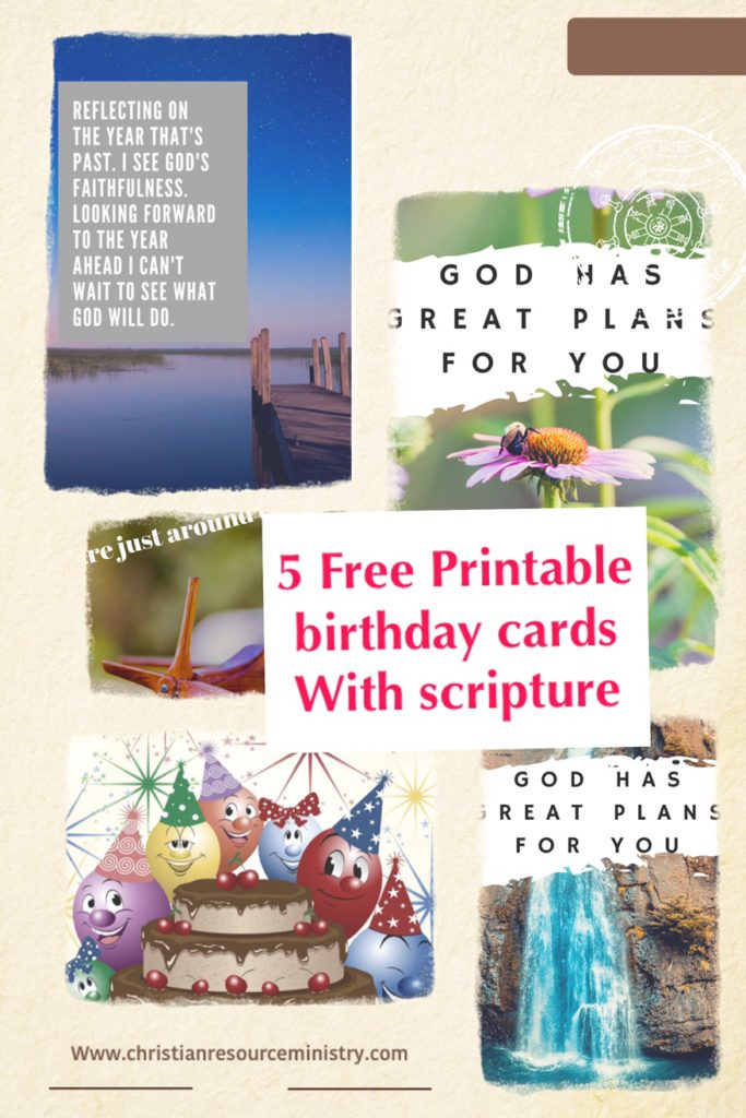 5 Free Printable Christian Birthday Cards