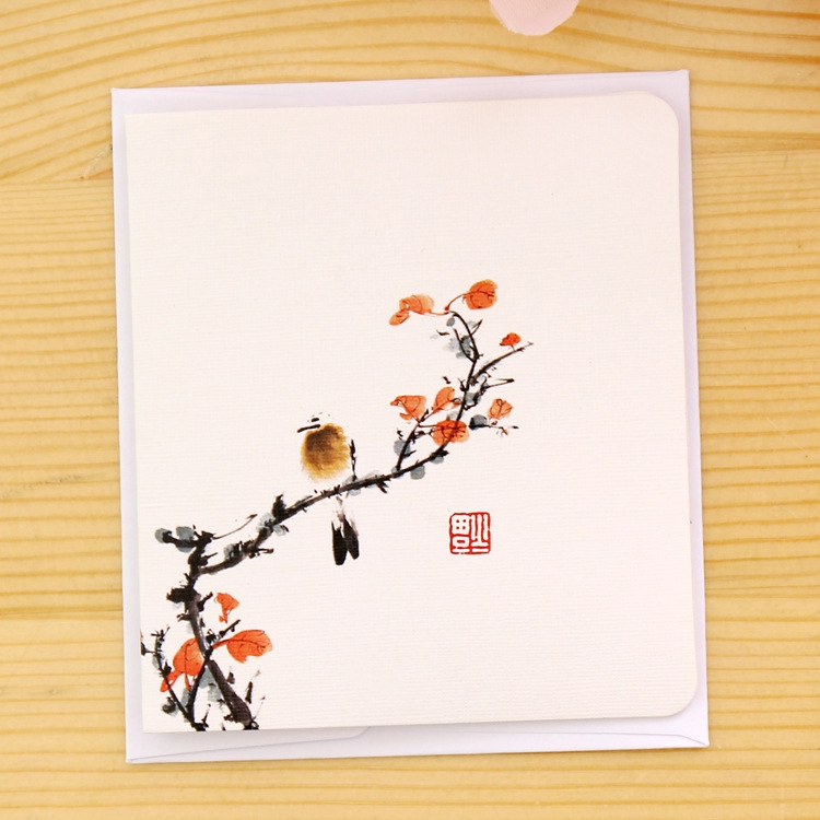 5 PCS Creative Classical Chinese Style Creative Greeting