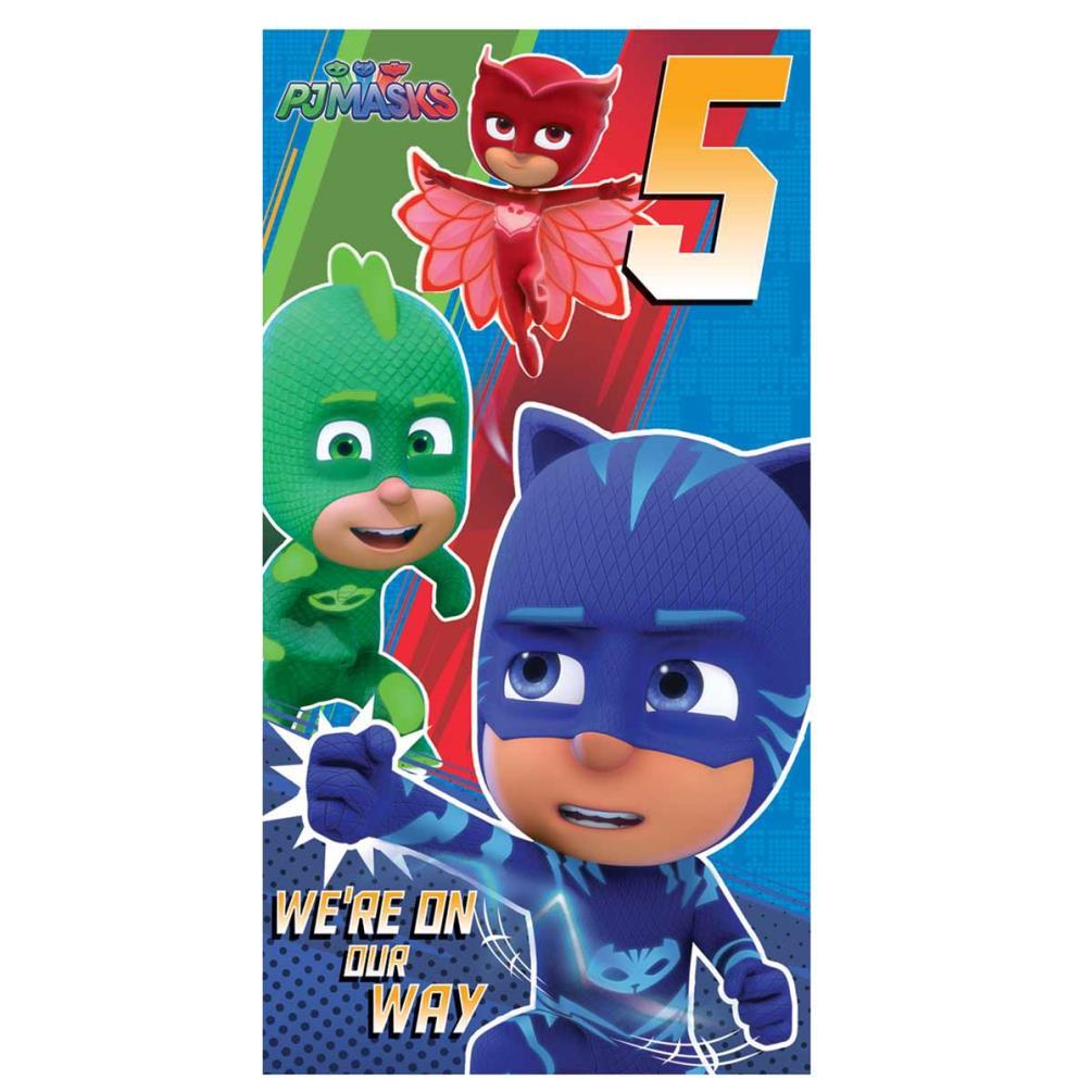 5th Birthday PJ Masks Birthday Card 255805 Character