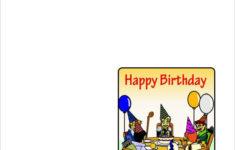 Free Printable Birthday Cards Quarter Fold