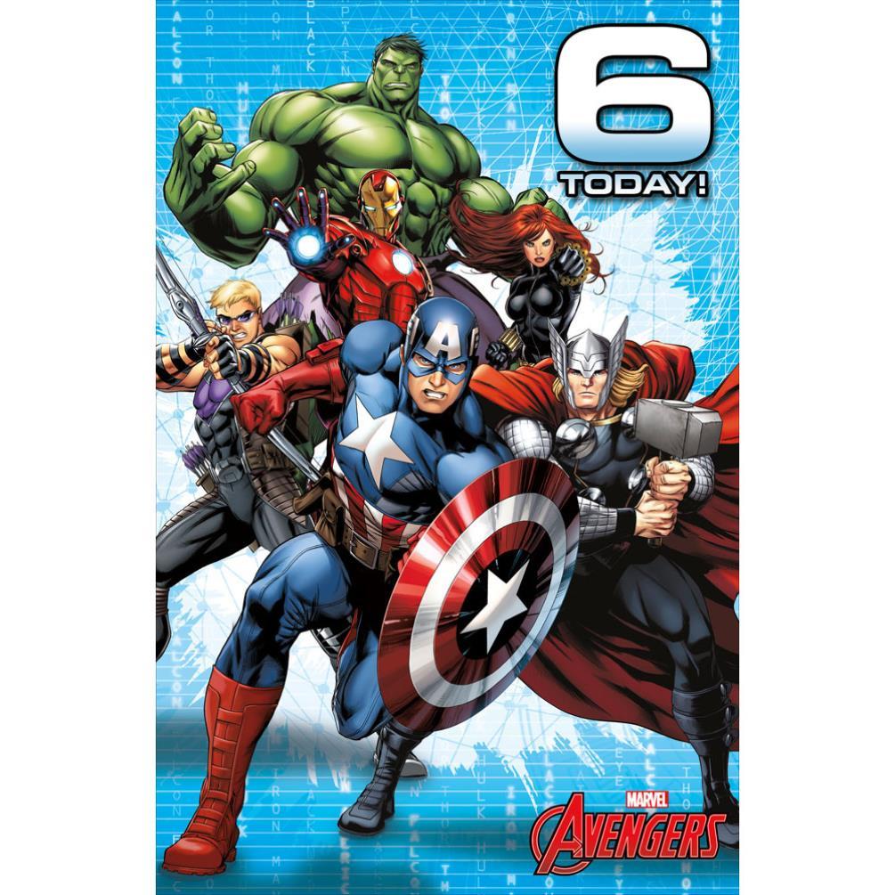 6 Today Marvel Avengers Birthday Card 487214 0 1