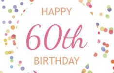Free Printable Birthday Cards 60th