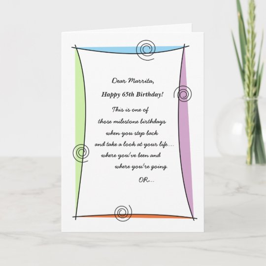 65th Birthday Cards Greeting Photo Cards Zazzle