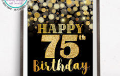 Printable 75th Birthday Cards