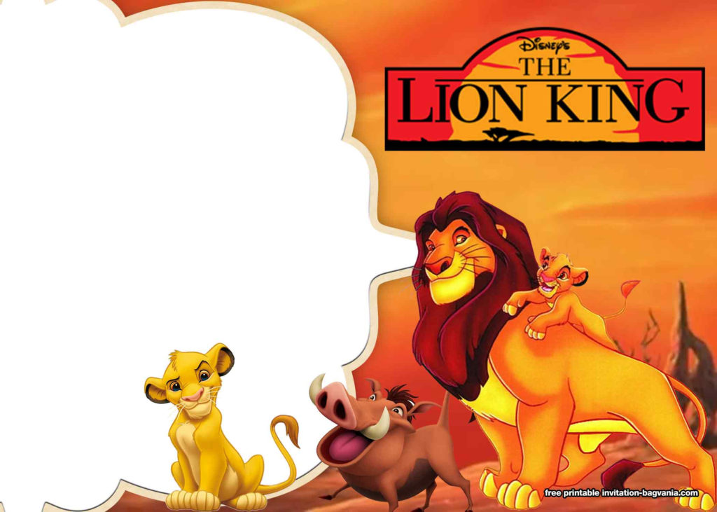 8 FREE Printable Lion King Invitation Templates DREVIO