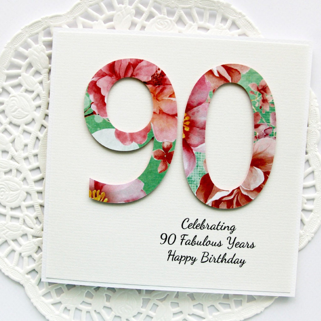 90th Birthday Card Personalised Happy By Littlecardboutique