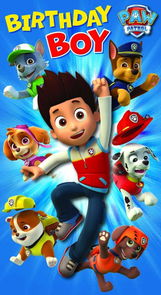 A Birthday Card From The Paw Patrol Series By Pink Greene