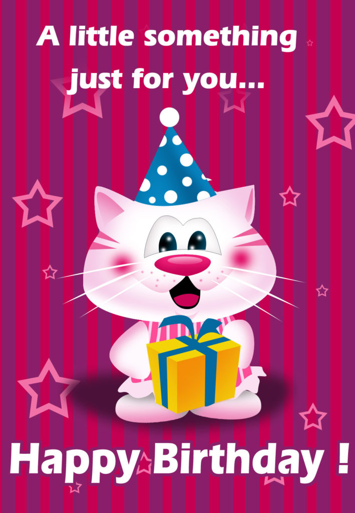 A Little Something For You Birthday Card Free