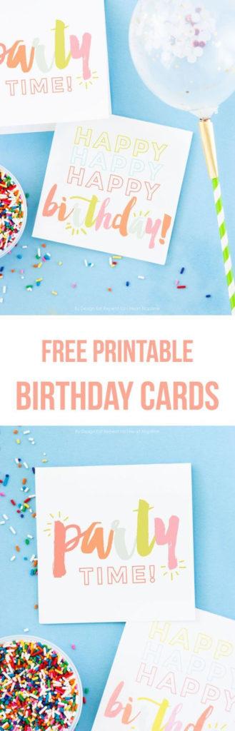Adorable FREE Printable Birthday Cards I Heart Naptime