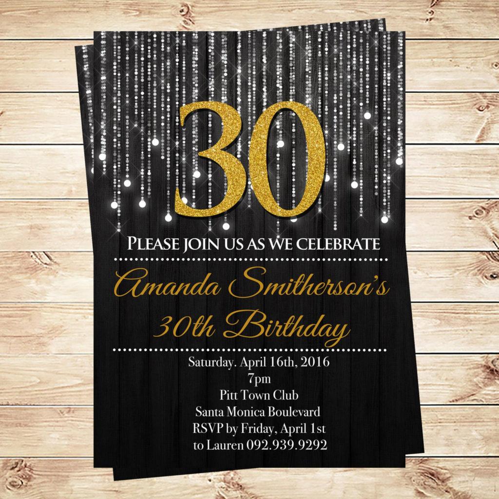 Adult Birthday Invitation 30th Birthday Invitations