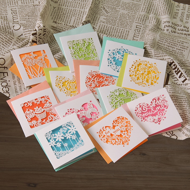 Aliexpress Buy Small Greeting Cards N Enveloeps