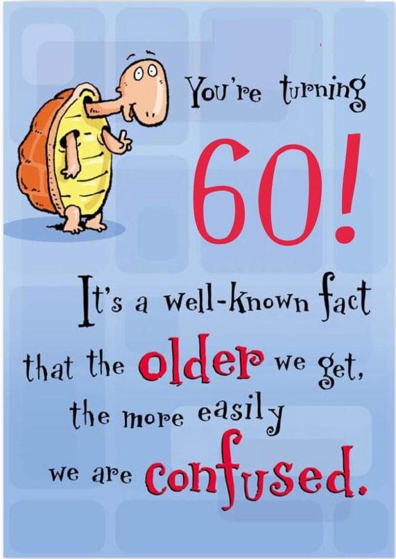 AMSBE Funny 60 Birthday Card Cards 60th Birthday Card