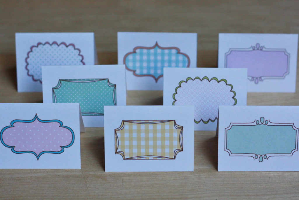 Amy J Delightful Blog PRINTABLE Note Cards place Cards