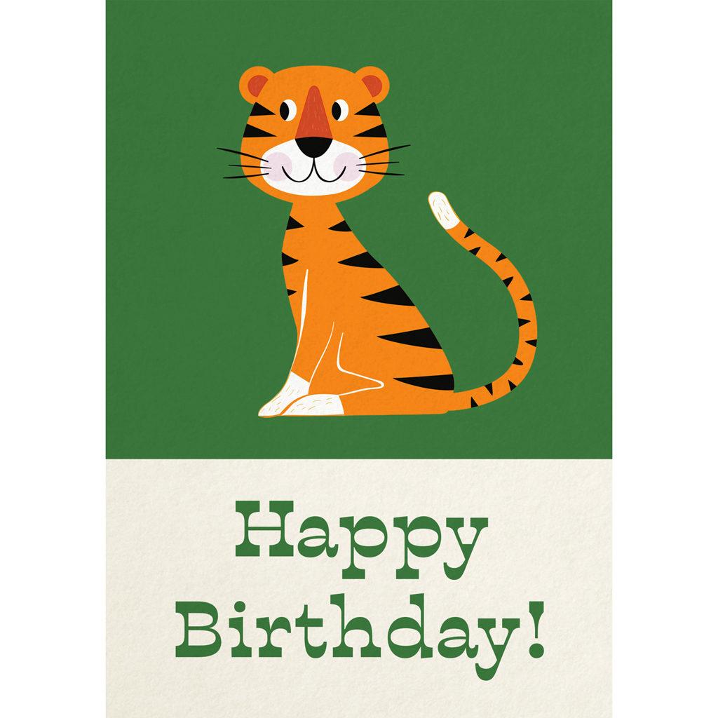 Animal Park Tiger Birthday Card Rex London dotcomgiftshop