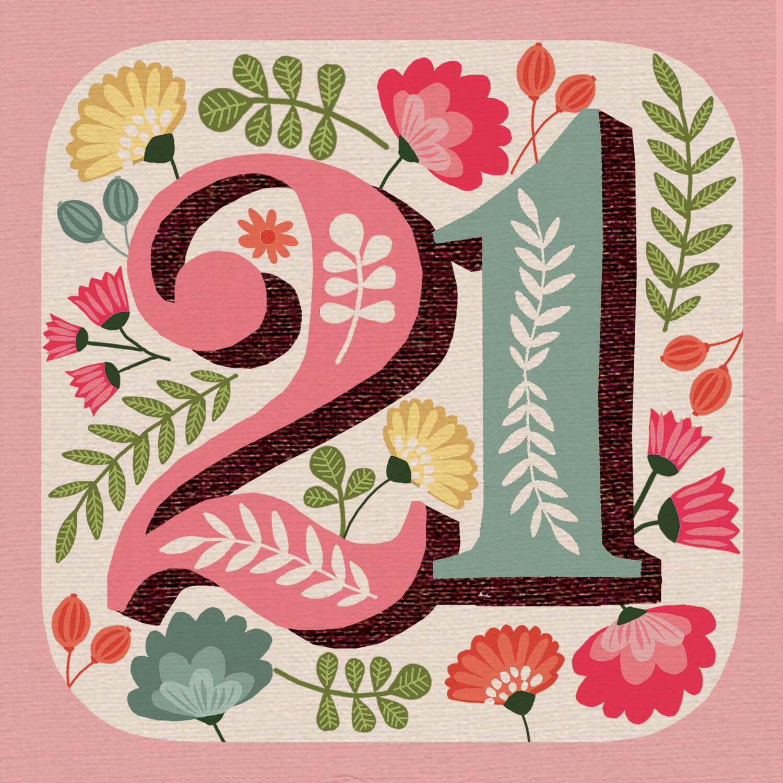 Awesome 21st Free Birthday Card Greetings Island ...
