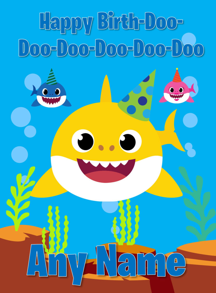 Baby Shark Doo Doo BIRTHDAY CARD Mummy Daddy Brother