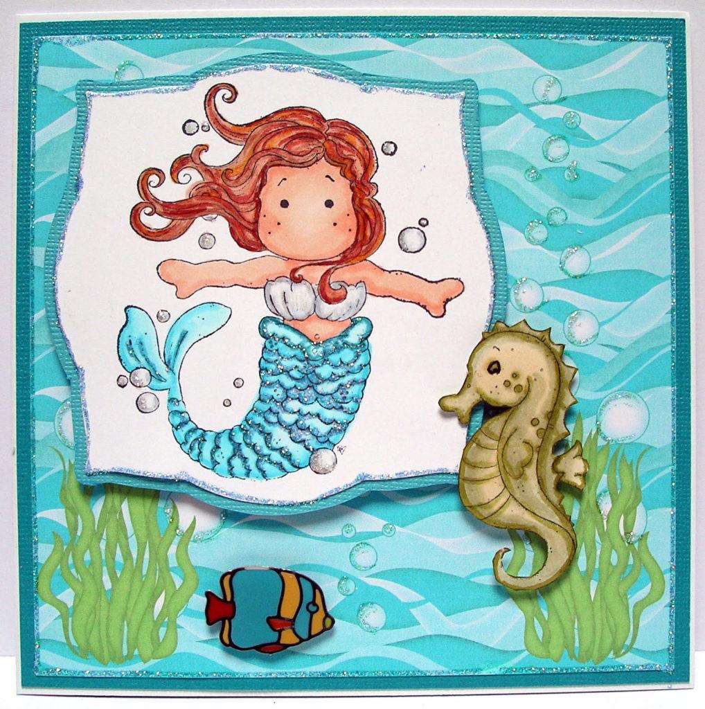Ballerina Craft Mermaid Birthday Card