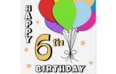 Free Printable 6th Birthday Cards