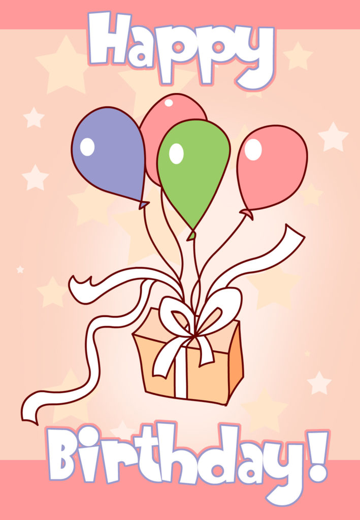Balloons And Cake Birthday Card Free Greetings Island