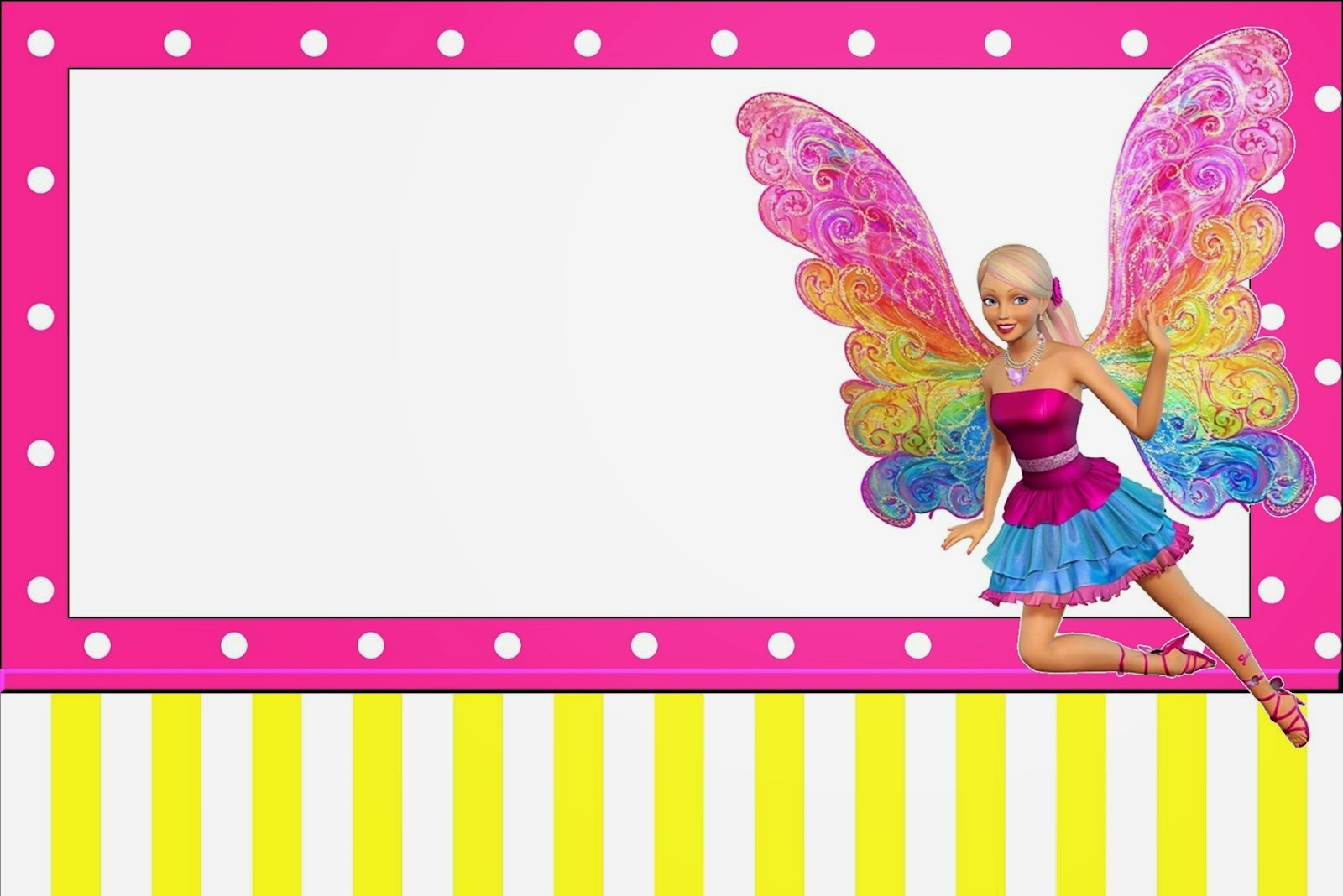 Barbie Fairytopia Free Printable Invitations Oh My