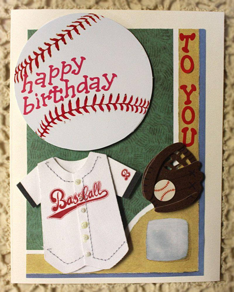 Baseball Happy Birthday Card 10 00 Via Etsy Kids