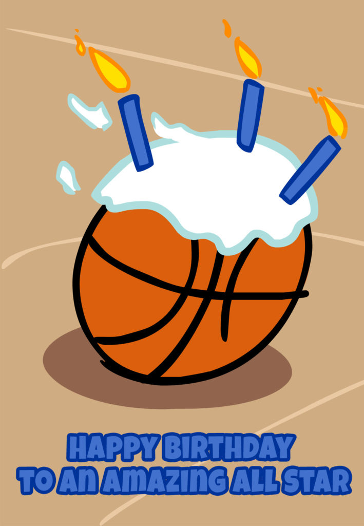Basketball Candles Birthday Card Free Greetings Island